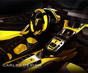 "Lamborghini ""Yellow Bull"" Interior Reworked by Carlex"