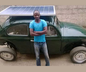 DIY Solar and Wind-Powered Electric VW Beetle