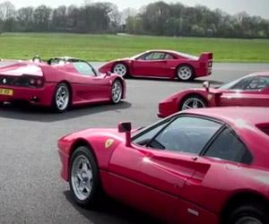 Four Ferraris Hit the Top Gear Track