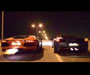 Flame War: Lambo Aventador vs. Ferrari 458