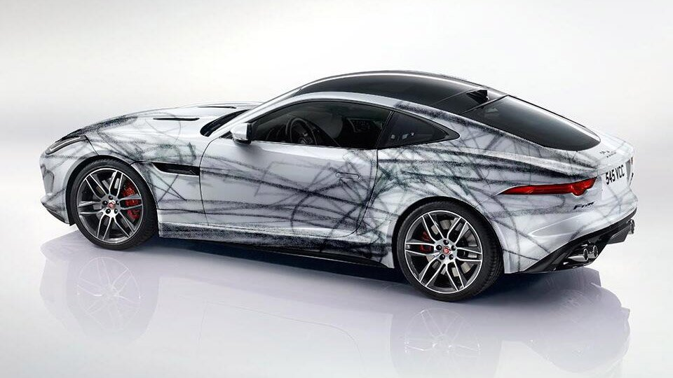 Jaguar F-Type Coupé Gets Wrapped in Abstract Art