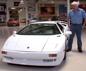 Jay Leno Drives a Lamborghini Diablo