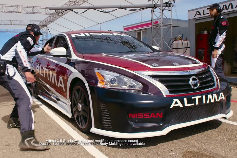 would you believe a nissan altima is a race car?then nissan invited regular people to go for a drive around the track in nissan\u0027s ultimate \u201caltima race car\u201d with a professional driver behind the wheel