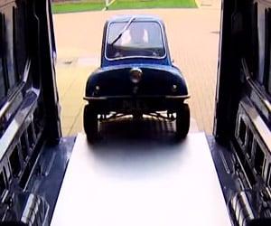Turning a Car around Inside a Van