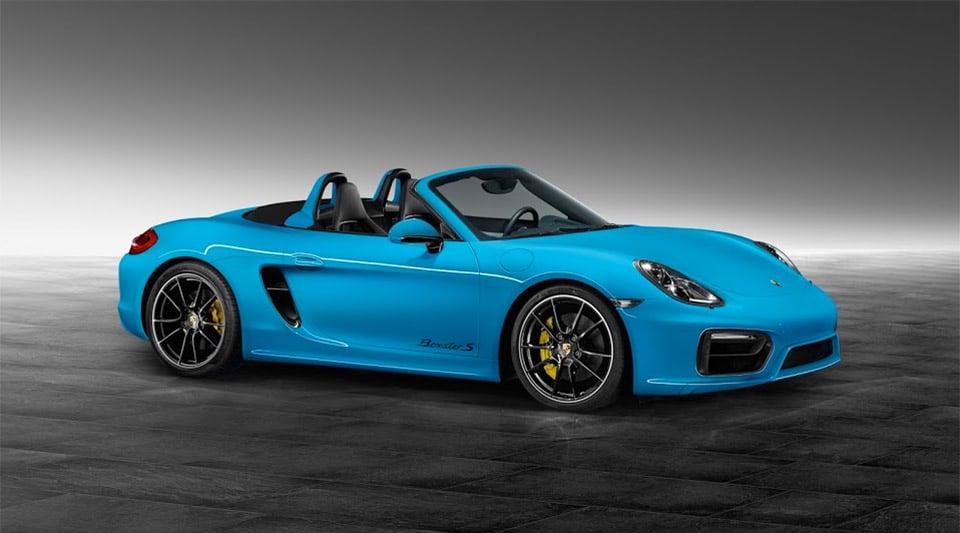 Porsche Exclusive Boxster S in Riviera Blue
