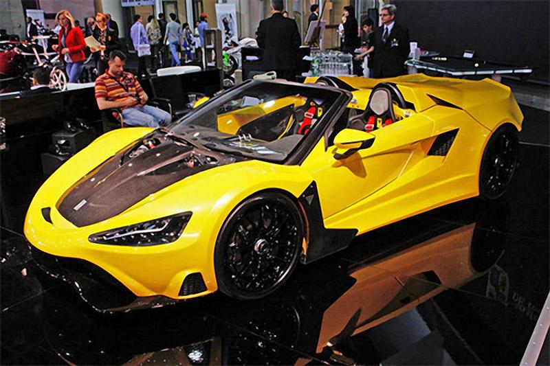 Tushek TS 600 Supercar Shown in Monaco