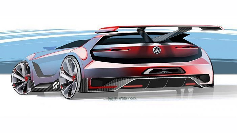 VW Shows More GTI Vision Gran Turismo Concept
