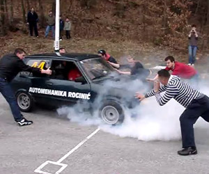 How to Do a Burnout in a Yugo