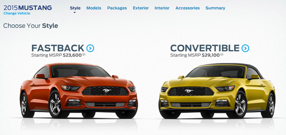 2015 Ford Mustang Configurator Goes Online