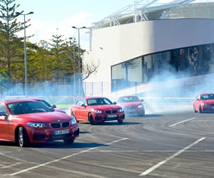Five BMW M235i Burn Some Rubber