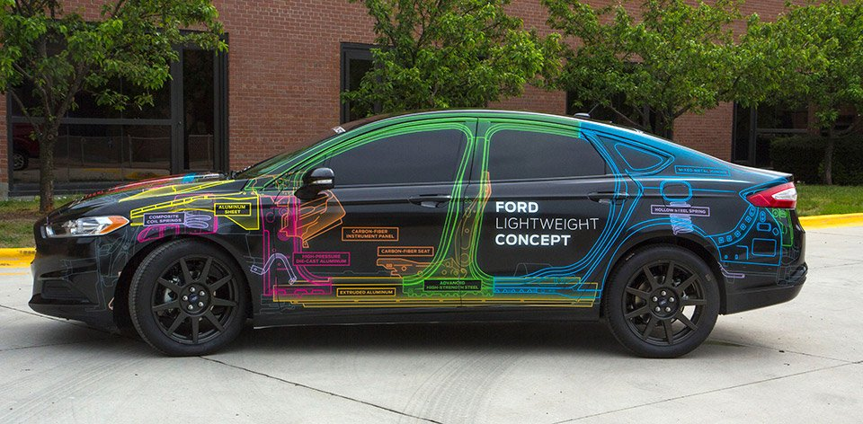 Ford Lightweight Concept Trims Hundreds of Pounds