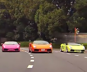 Three Ladies and Their Lambos