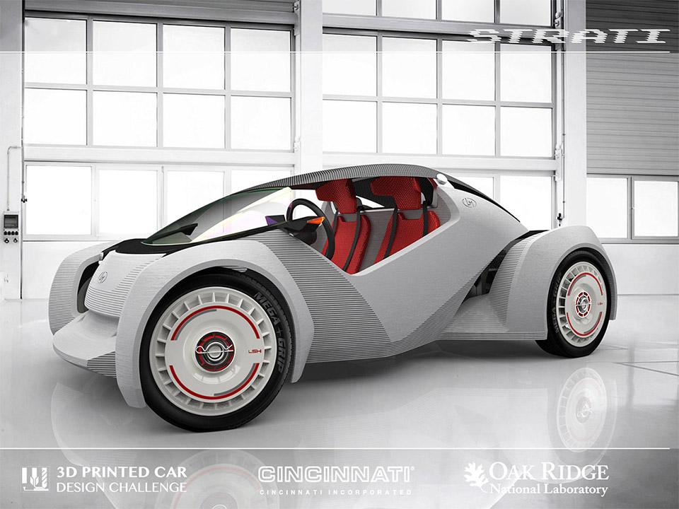 Local motors reveals 3d printed car contest winner 95 octane for Local motors 3d printed car
