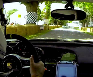 Porsche 918 Spyder Blasts up the Goodwood Hill Climb