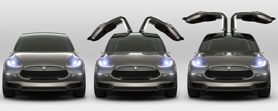 Tesla Model X Confirmed for Early 2015 Deliveries