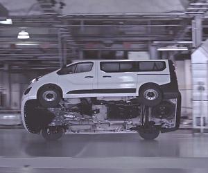 Stunt Driving a Vauxhall Vivaro Van