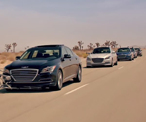 Hyundai Car Convoy Goes Driverless