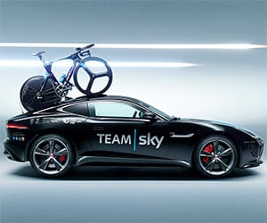 F-Type Coupe: Best Tour de France Vehicle Ever