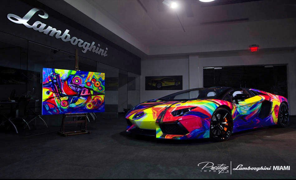 lamborghini aventador art car project duaiv