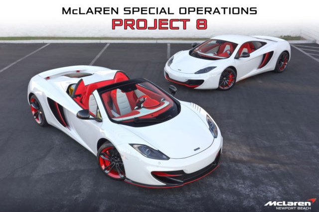 Matched Set of Project 8 McLaren MP4-12Cs for Sale