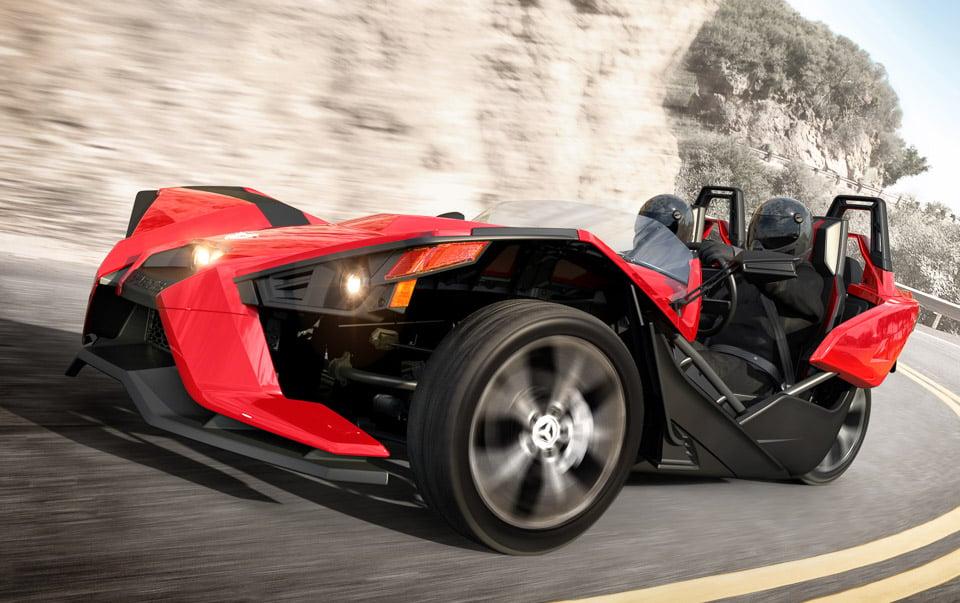 Polaris slingshot a three wheeled roadster 95 octane for Mercedes benz slingshot