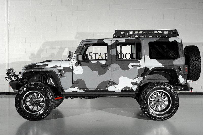 White Camo Jeep : Starwood motors jeep wrangler rubicon octane