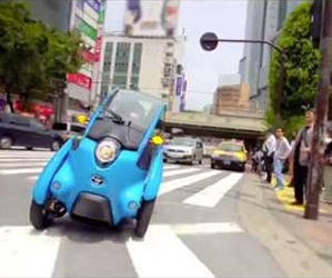 Toyota's Electric i-ROAD on the Streets of Tokyo