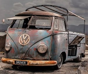Drag Racing VW Type 2 Single Cab Microbus