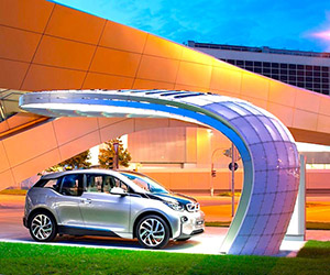 BMW's Gorgeous Solar EV Charging Station