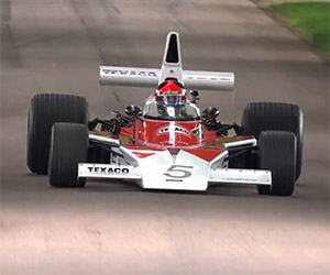 Emerson Fittipaldi Reunited with his 1974 McLaren M23