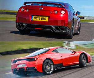 EVO: Ferrari 458 Speciale vs. Nissan GT-R