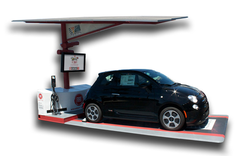 Fiat Launches Solar Ev Charger In San Diego 95 Octane