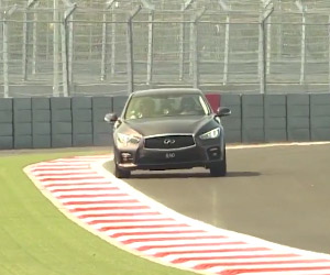 Sebastian Vettel Drives Sochi Autodrom in a Q50