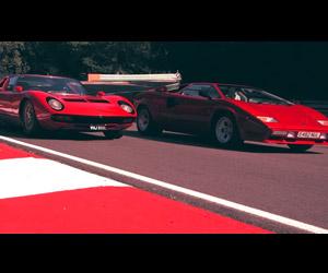 Two Classic Lamborghini Legends Meet