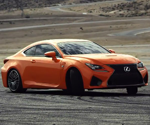 Lexus RC F Does Donuts