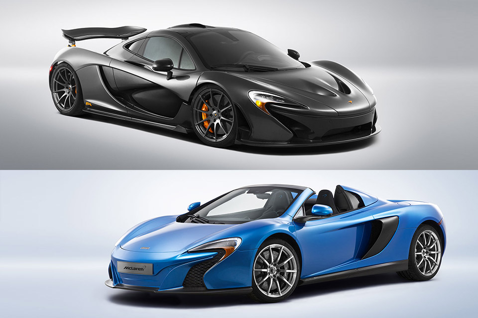 McLaren Special Edition P1 and 650S Spider