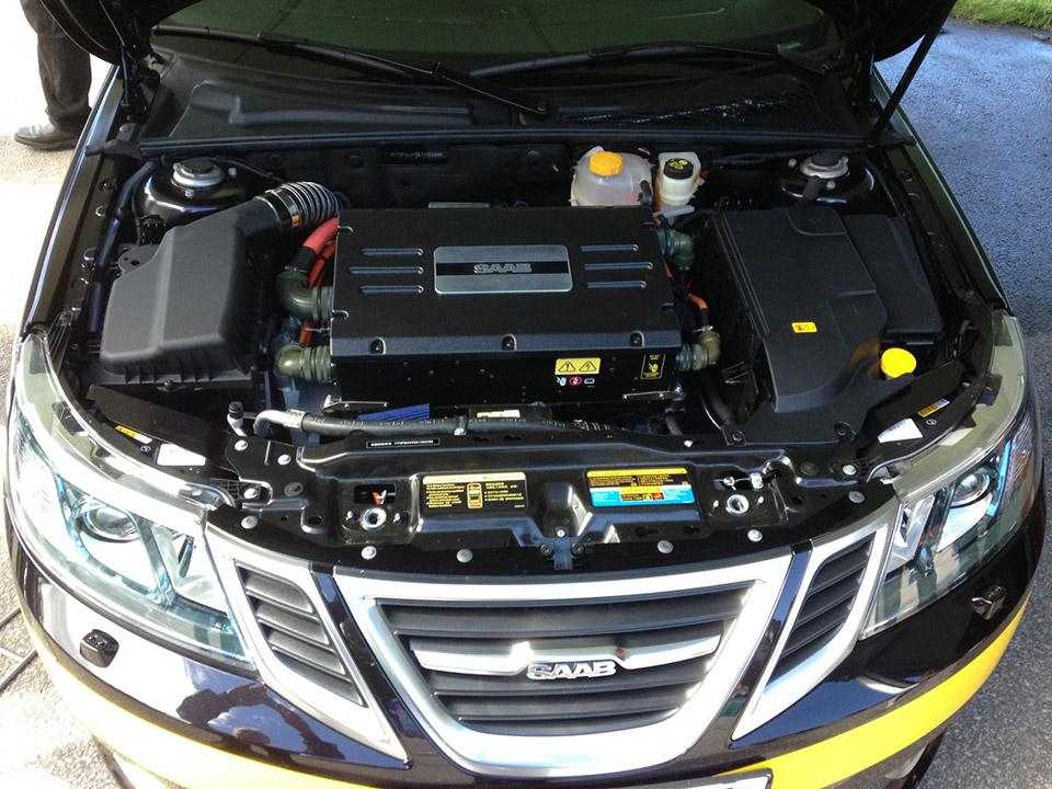 Nevs Shows Saab 9 3 Aero Based Electric Vehicle