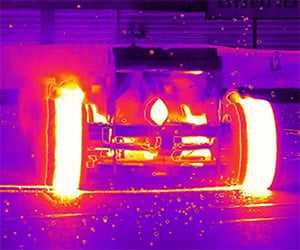 Red Bull's Formula 1 Racer Captured on Infrared
