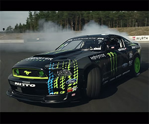 Amazing Drift Lap in a Ford Mustang RTR