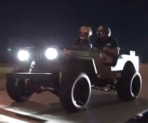 Willys Jeep vs. Z06 Corvette in a Street Race