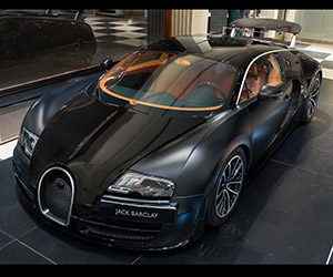Awesome Car Pic: Bugatti Veyron in Matte Black
