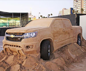 Chevy Colorado Sand Sculpture