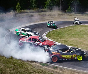 Drift 'Em if You Got 'Em: 12-Car Tandem Drift