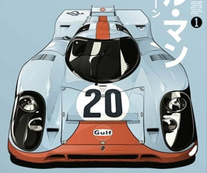 Awesome Le Mans Gulf Porsche 917K Prints