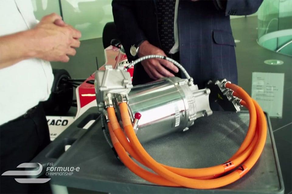 mclaren shows off its tiny formula e motor