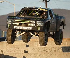Monster Energy's 800hp Truck Hits the Beach