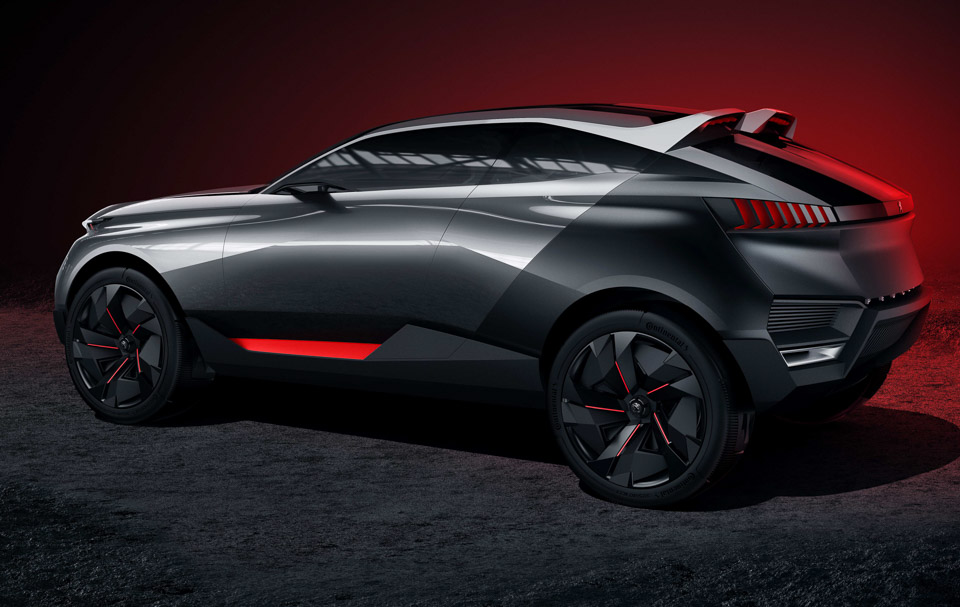 peugeot quartz crossover suv concept 95 octane. Black Bedroom Furniture Sets. Home Design Ideas