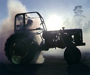 Plowkhana: Drifting in a 1956 Volvo Tractor