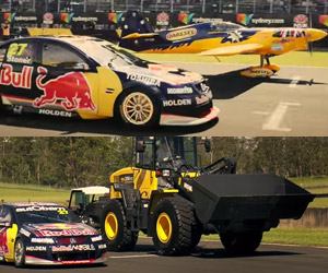 Airplane vs. V8 Supercar vs. Construction Digger