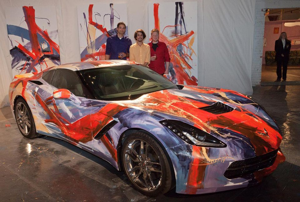 Artists Use 2014 Corvette Stingray as Their Canvas
